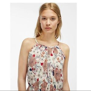 NWT Massimo Dutti Flowing Floral Halter Maxi Dress